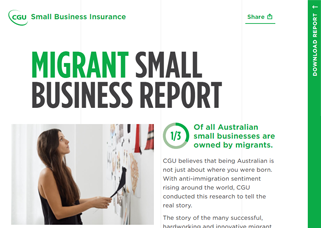 CGU - CGU Migrant Small Business Report