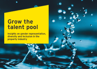Grow the talent pool <br />        Insights on gender representation, diversity and inclusion in the property industry